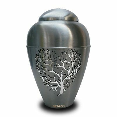 Metal Urn for Ashes Tree of Life Funeral Urn Large Memorial Cremation Urn Adult