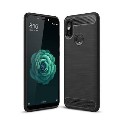 CoverKingz Xiaomi Mi A2 Handy-Hülle Premium Soft-Case Carbonfarben