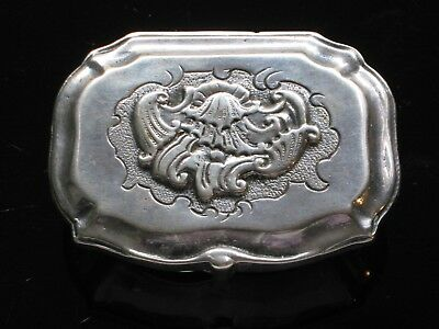 Antique 800 Silver Pill or Snuff Box Germany B & Z
