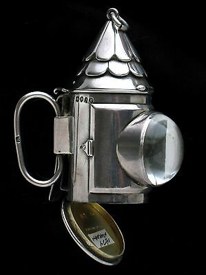 Sampson Mordan English Silver Lantern Vinaigrette and Sewing Etui London 1874