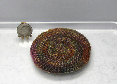 Dollhouse Miniature Handcrafted Small Round Colorful Rug