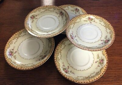 Vintage Meito China Set of 5 Saucers – Derby Pattern