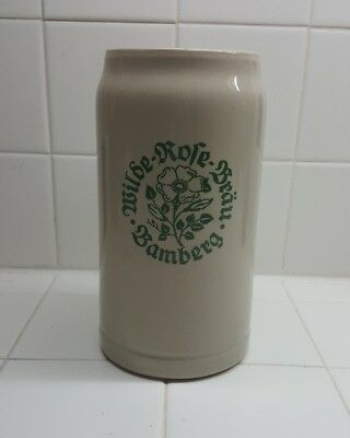 "SQHM Wilde Rofe Brau Bamberg  7.5"" Pottery Beer Stein Ex. Co."