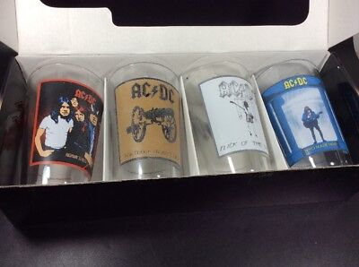 AC/DC Collectors Pint Glass 4 Pack Album Covers Highway to Hell Who Made Who