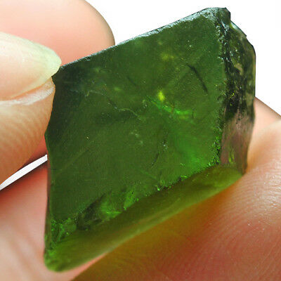 21.55Ct Green Tourmaline Crystal Facet Rough Specimen 100% Natural UBXC60