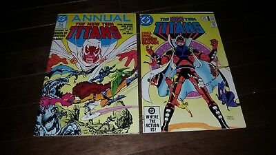 The New Teen Titans Annual #2 1986.NM-. .#22 ORIGIN AND 1ST APP OF BROTHER BLOOD