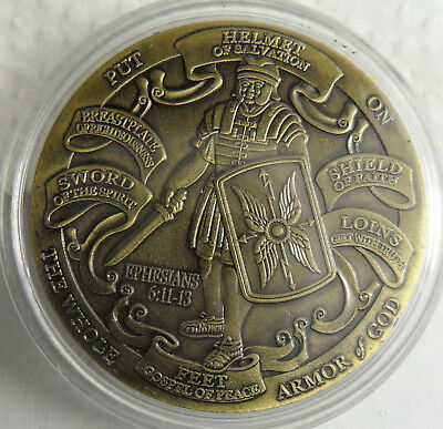 US ARMY United States Army Armor of God High Relief Christian Challenge Coin