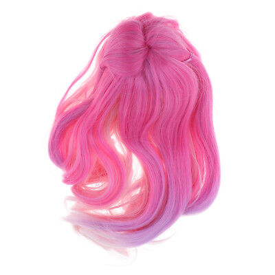 Curly Doll Hair for 1/3 BJD Blythe Doll Handcraft DIY Doll Wig Light Pink