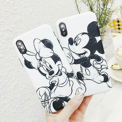 Mickey Minnie Cartoon Disney Cute Silicone Case Cover For iPhone XS 8 6 7 Plus