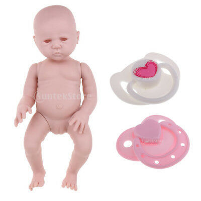 Unpainted Soft Vinyl Blank Doll & Dummy Pacifier For Reborn Dolls Accessory