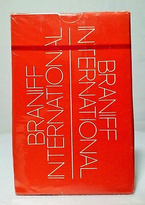 Vtg Braniff International airlines playing cards NEW SEALED
