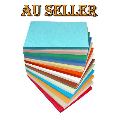 10 X 230gsm A4 Coloured Dermatoglyph Craft Paper Textured Cardstock Making Card