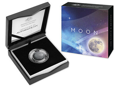AUSTRALIAN 2019 $5 1oz SILVER PROOF COIN - THE EARTH AND BEYOND SERIES - MOON