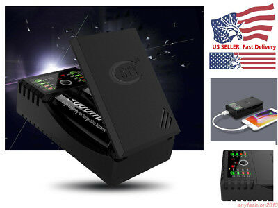 2Slots Smart Battery Charger for 18650 Rechargeable Li-Ion Battery USB US SELLER