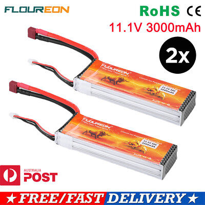 2X 3S 30C 11.1V 3000mAh LiPo Battery Pack for RC Car Airplane Helicopter Drone