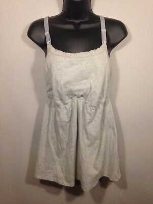 Unbranded Women's Maternity Nursing Spaghetti Tank Top Grey Size Extra Large