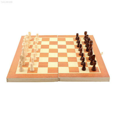3D18 7CB8 Quality Classic Wooden Chess Set Board Game Foldable Portable Gift Fun
