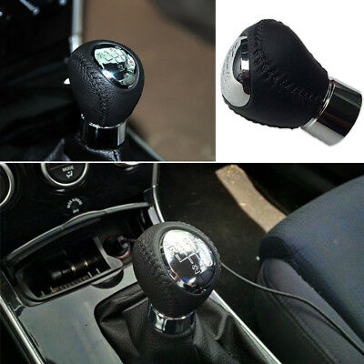 Unique Stylish 6 Speed Chrome Gear Shift Knob Lever Stick Handle For Mazda 3  5 6
