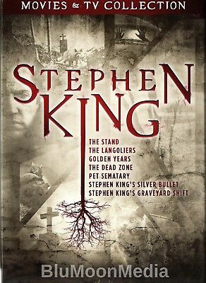 Stephen King Movies & TV Collection DVD Set 7 Features Stand Pet Sematary + NEW