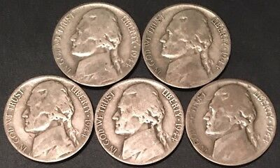 1944-S (1) One Coin From Group/ (1) Silver War /jefferson Nickels/fast Shipping