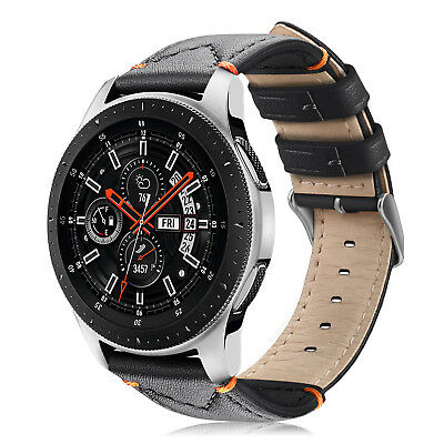 Genuine Leather Strap Wrist Bands for Samsung Galaxy Watch 46mm / Gear S3 22mm