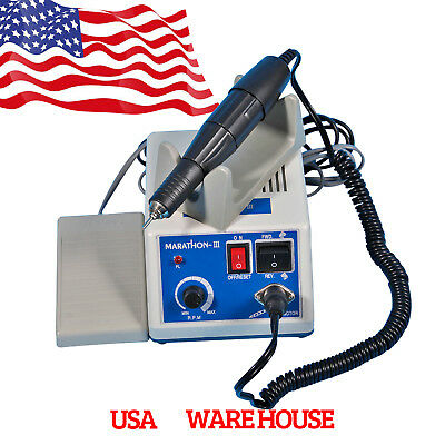 Dental 35K RPM Marathon Electric Micromotor Polishing Unit + Handpiece +Burs USA