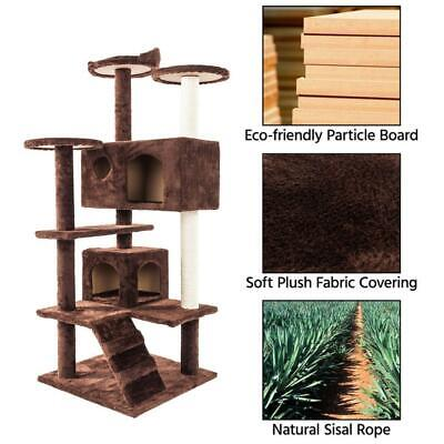 52''Cat Tree Kitten Tree Tower Condo Furniture Scratch Post Kitty Pet House Play