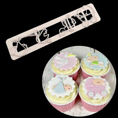 New Baby Icing Fondant Cutter Cake Decorating Mould Baby Shower Cupcake