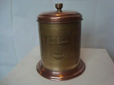 Vintage tea caddy tea time Brass & Copper kitchenalia