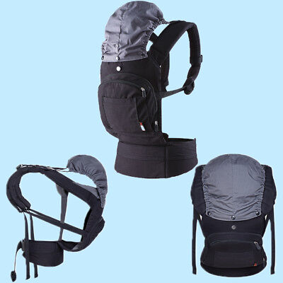 3 in 1 Baby Carrier with Removable Sun & Wind Cover Toddler Backpack Breathable