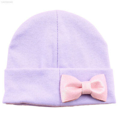 CD7A Baby Girls Knitted Hat Newborn Bow Cap Beanie Crochet Photo Props Headwear