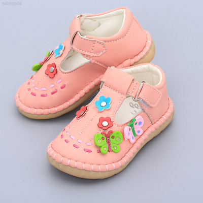 217B Baby Infant Butterfly PU Leather Prewalker Trainers Flats Outdoor Crib Shoe