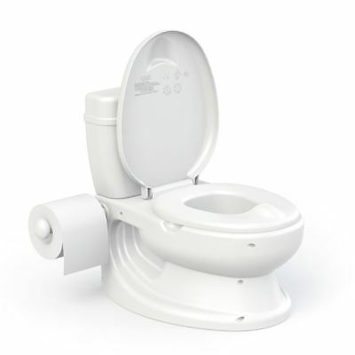 Dolu Infant Educational Potty Training Toilet Realistic Flush Sound - White