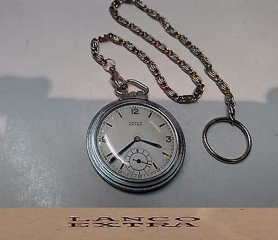 Vintage Swiss Made Pocket Watch Lanco Extra Art Deco Style Open Face