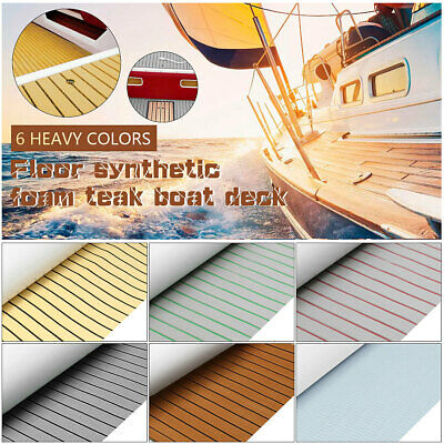 Teak Decking EVA Foam Marine Boat Faux Sheet Yacht Floor Adhesive 5/6MM Thick