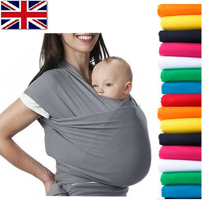 Baby Sling Stretchy Wrap Holder Carrier Breastfeeding Newborn Birth - 3 YRS Soft