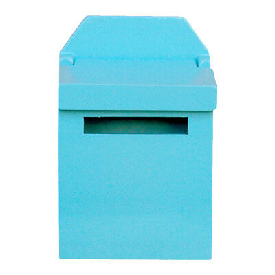 1/12 Dollhouse Miniature Wooden Mail Post Box Kids Playing Toys - Blue