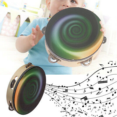 Kid Musical Tambourine Wooden Percussion Instruments Hand Drum Child Toy Lot