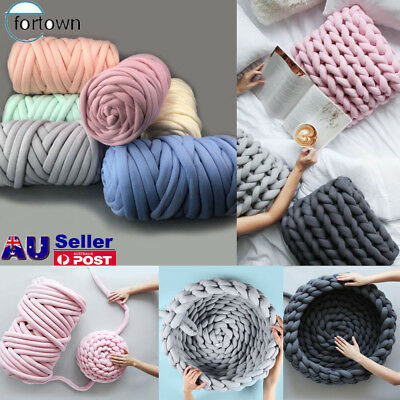 AU Thick Wool Sweater Chunky Wool Yarn DIY Super Bulky Arm Knitting Blanket