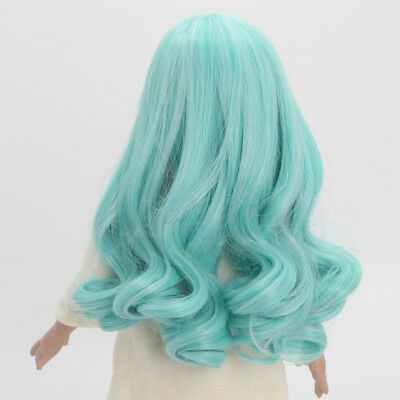 PaleGreen Wavy Curly Hair Wig for 18inch American Girl DIY Making Accessory