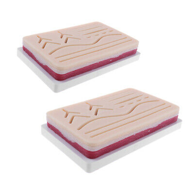 2PCS Medical Suture Training Kits- Human Traumatic Skin Suture Practice Pads