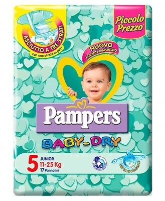 Pampers Baby Dry Downcount No Flash Junior Misura 5 (11-25kg) 17 Pannolini