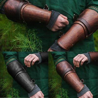 Men's Leather Bracers Wrist Guard Arm Sleeve Protector Performance Props Outdoor
