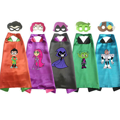 Teen Titans Go! Cape and Mask Superhero Costume Halloween Kids Birthday Favor