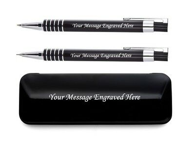 Personalised Engraved Luxury Pen And Pencil In Matching Colour Presentation Box