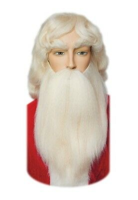 Santa White Realistic Mustache Yak Hair Christmas Holiday Adult Teen