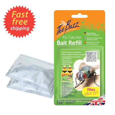 The Buzz Fly Catcher Bait Refill Super Effective Insect Attractant 3 Packs VVV