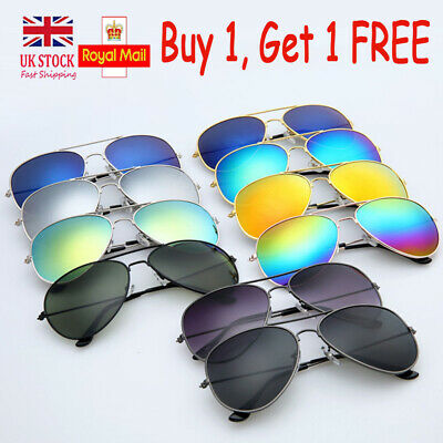 Mens Pilot Sunglasses Retro Designer Shades Womens Classic Eyewear UV400 Glasses