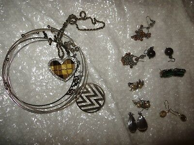 "Vintage Estate Find Jewelry Lot, ""JUNK DRAWER"" Earrings and necklaces"