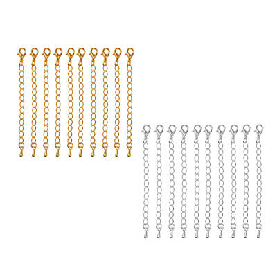 20 Pieces 70 mm Extended Extension Chains for Jewelry Findings Making Crafts